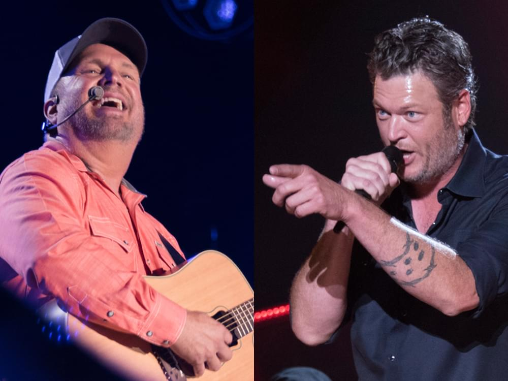 """Watch Garth Brooks & Blake Shelton Team Up for New """"Dive Bar"""" Video From Live Show"""