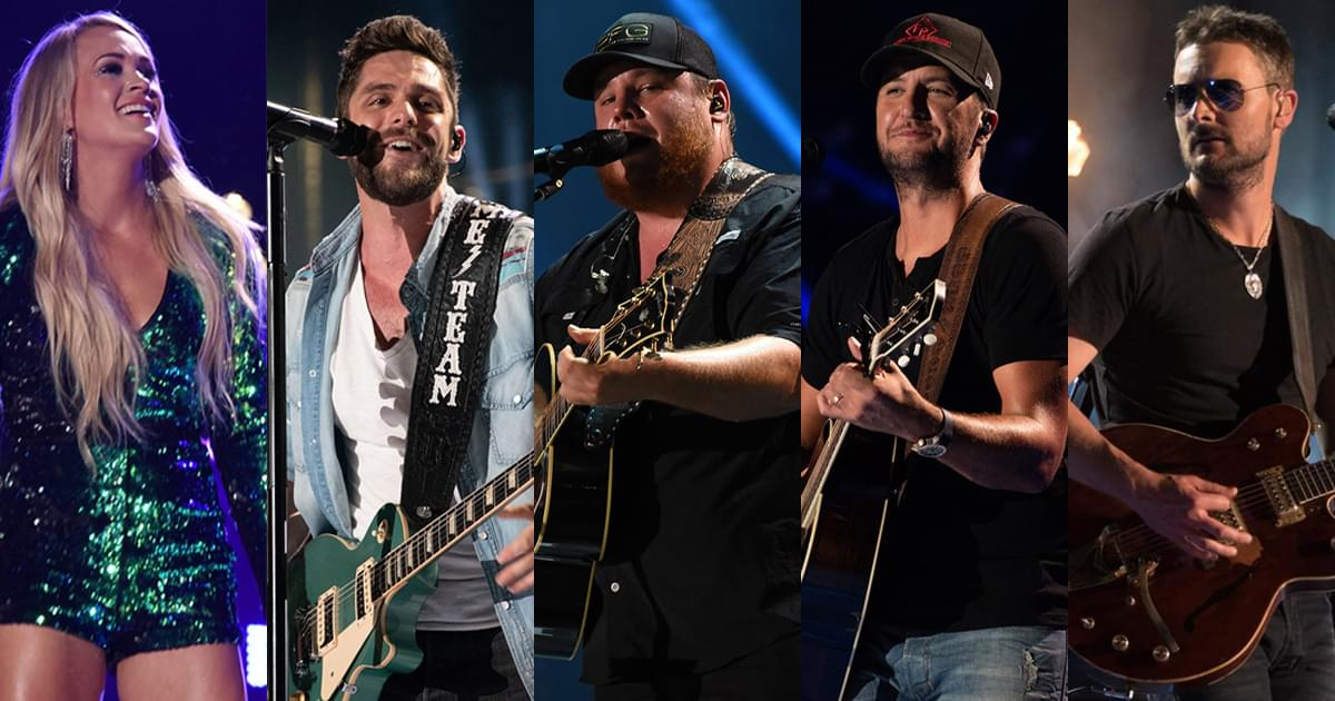 ACM Awards to Kick Off With Medley by Carrie Underwood, Thomas Rhett, Luke Combs, Luke Bryan & Eric Church