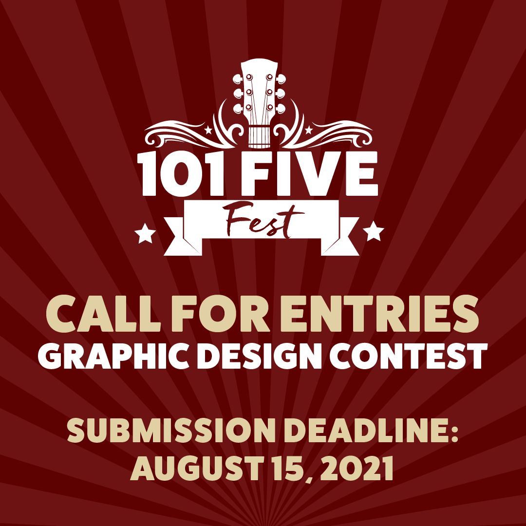 101-FIVE Fest T-Shirt and Poster Design Contest