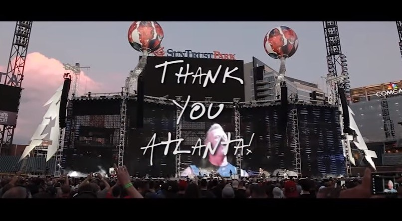 Metallica's THANK YOU ATLANTA video!