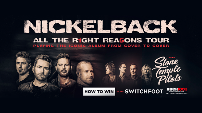 Win tickets to see Nickelback!
