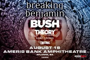 CANCELLED – Rock 100.5 Presents: Breaking Benjamin