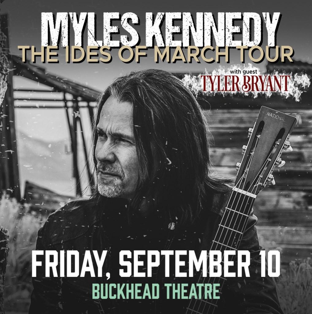 September 10 –  Myles Kennedy
