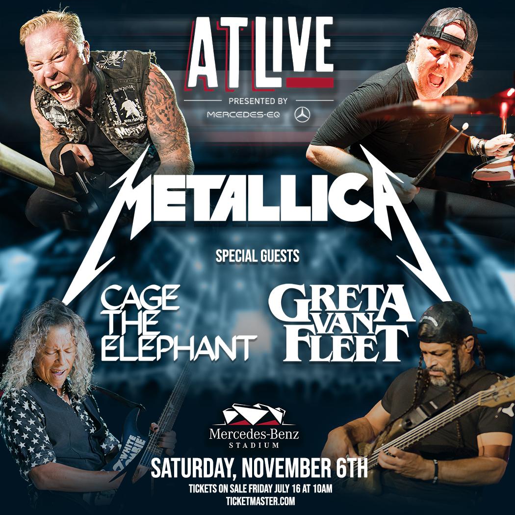 November 6 – ATLive: Metallica, Cage The Elephant, & Greta Van Fleet