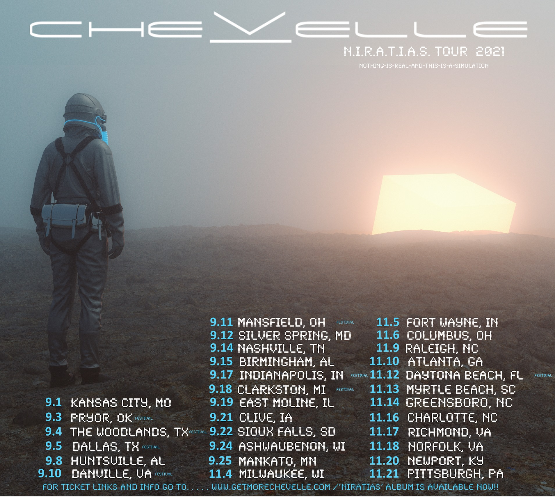 Nov 10 – ROCK 100.5 Presents Chevelle