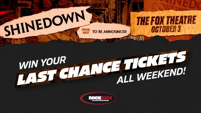 Win Shinedown Tickets All Weekend!