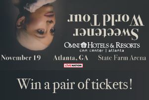 Win Ariana Grande Tickets!