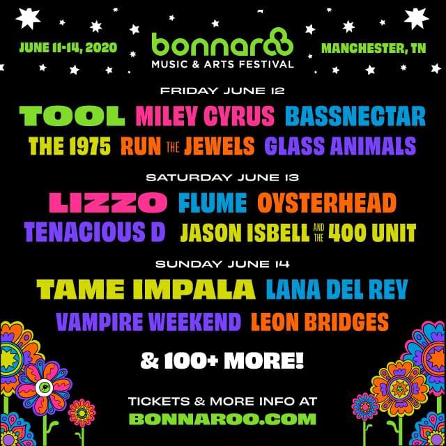 June 11 – 14 – Bonnaroo