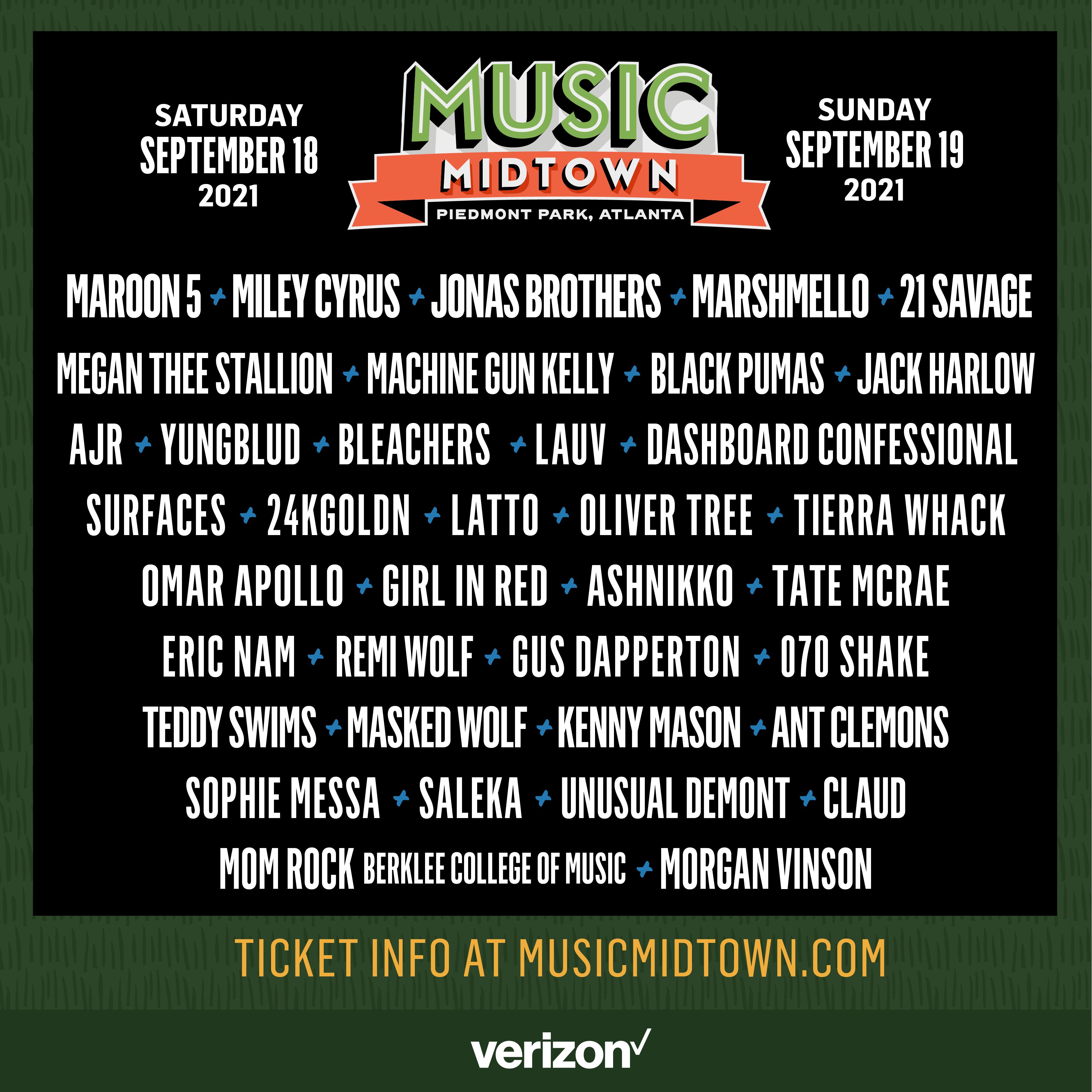 Sept 18 & 19 – Music Midtown