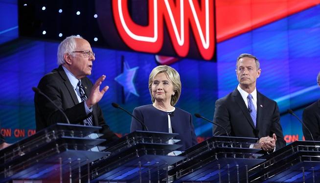 Bernie Sanders, Hillary Clinton, Martin O'Malley