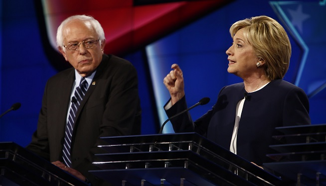 Bernie Sanders and Hillary Clinton
