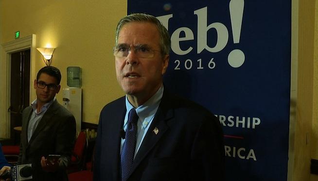 Struggling Jeb Bush enjoys larger crowds