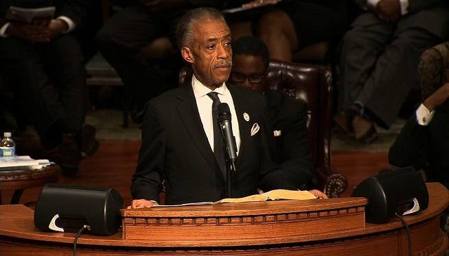 Al Sharpton Speaks at Michael Brown Funeral