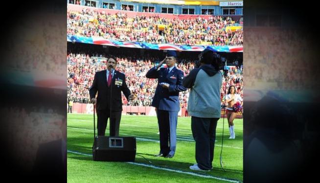 Cortez National Anthem Redskins