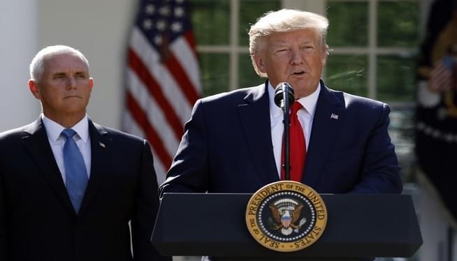 Trump Rose garden AP