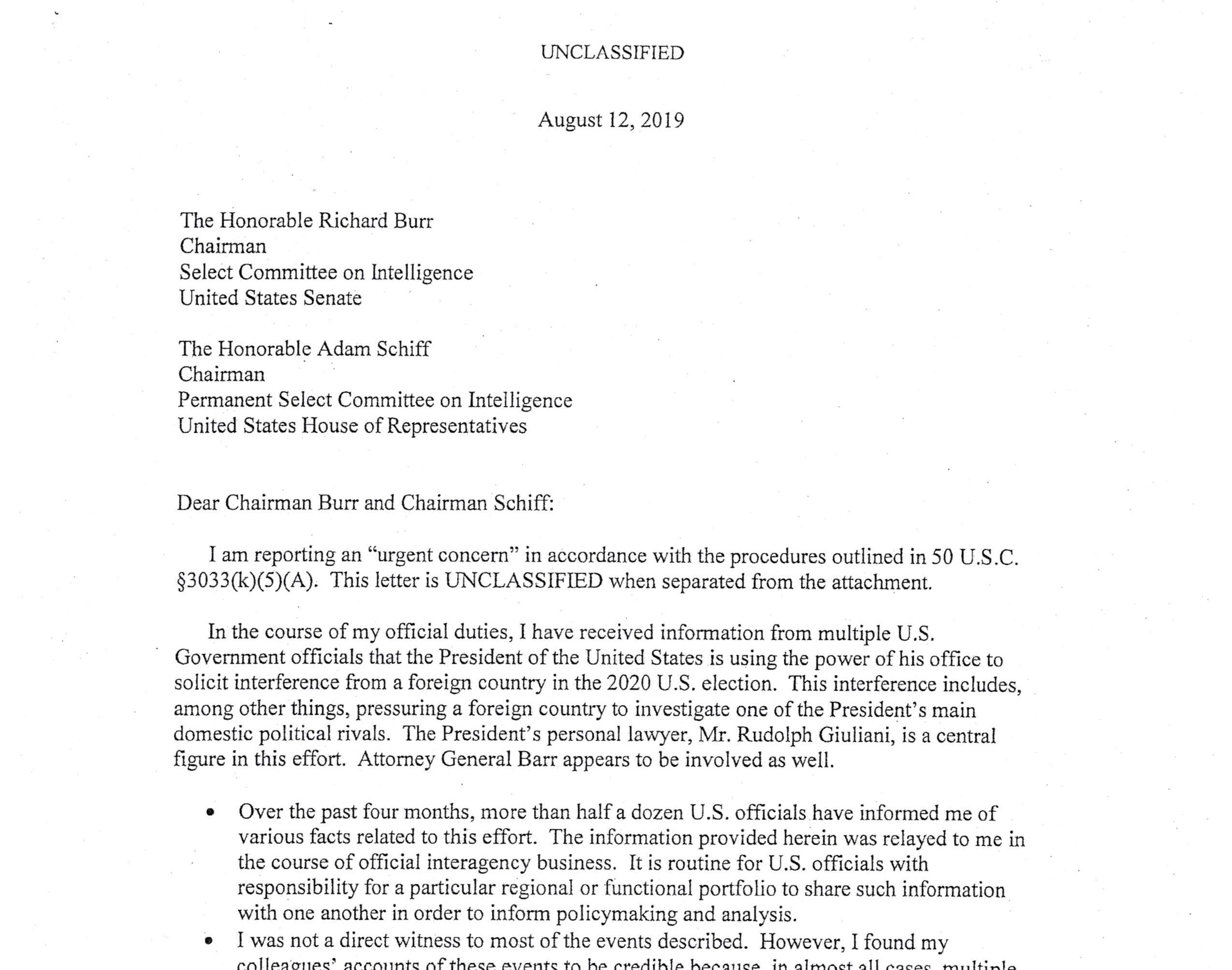 The Full Document: Whistle-blower Complaint