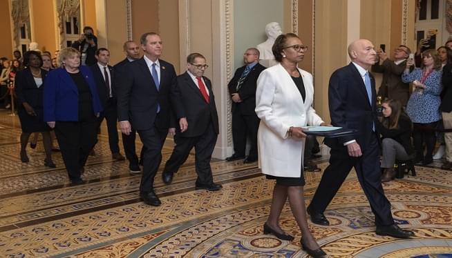 House Dems marching impeachment AP photo