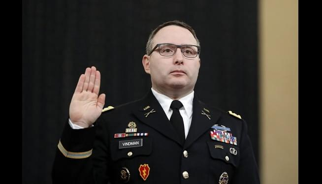 Army: No Investigation Into Vindman