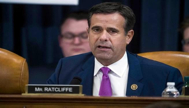President Trump picks John Ratcliffe to be top intelligence official again