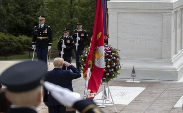 Trump Honors Fallen Soldiers On Memorial Day In Twin Events