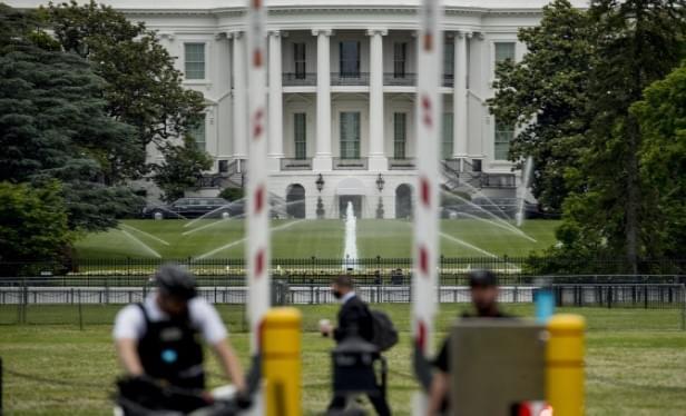Area Around White House Sealed Off; Fence Put Up