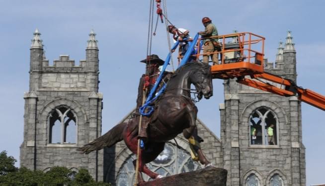 Richmond Removes Statue Of Confederate Gen. J.E.B. Stuart