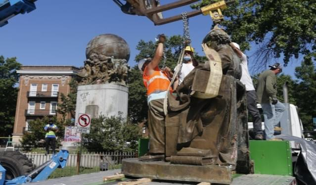 Crews Continue Work To Remove Richmond's Confederate Statues