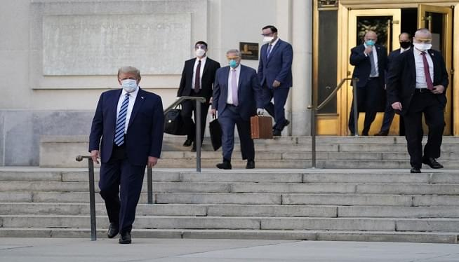 President Trump leaves Walter Reed Hospital