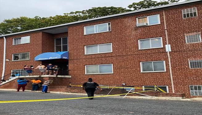 Toddler who fell out apartment window has died