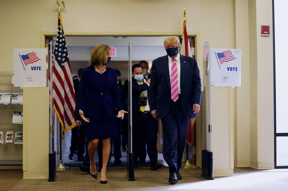 Trump votes in Fla. before rallies; Biden focusing on Pa.