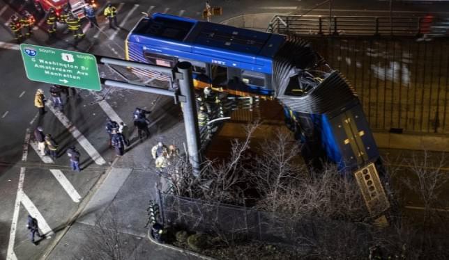 MTA: NY Bus driver refuses drug test after careening off bridge