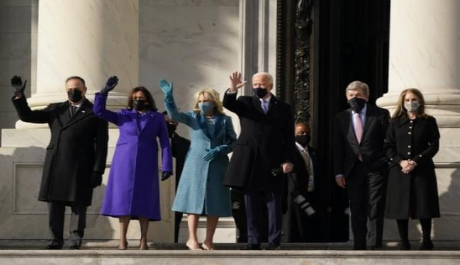 WATCH: Joe Biden arrives at the inauguration ceremony to be sworn in