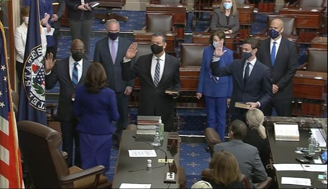 Democrats gaining Senate control as new members take oath