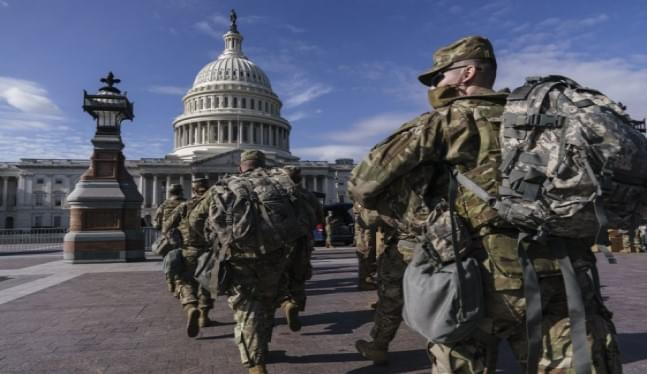 National Guard in DC forced to sleep in garages, sparking outcry