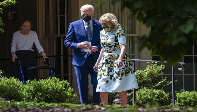 Biden and Carter, longtime allies, reconnect in Georgia