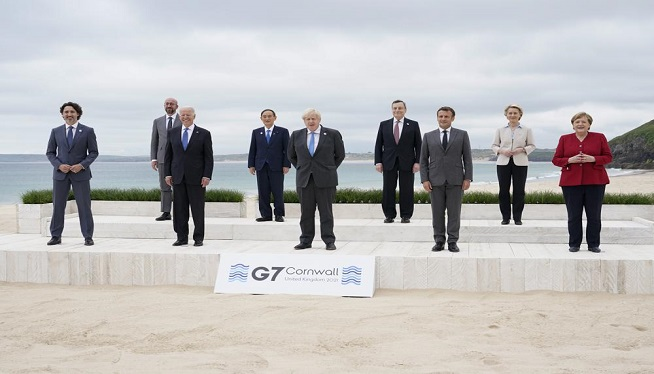 UK's Johnson: G7 pledge 1B vaccine doses to poorer nations