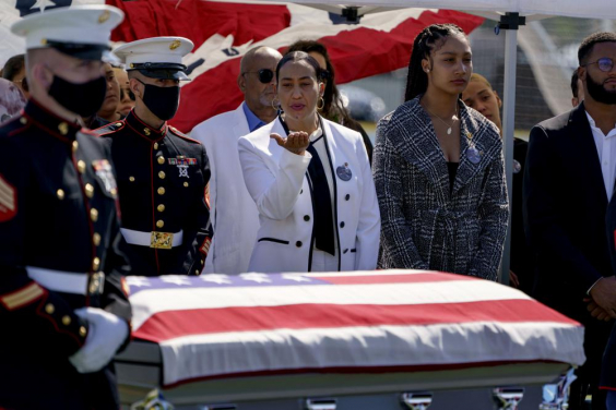 Marine killed in Kabul given hero's farewell in public wake