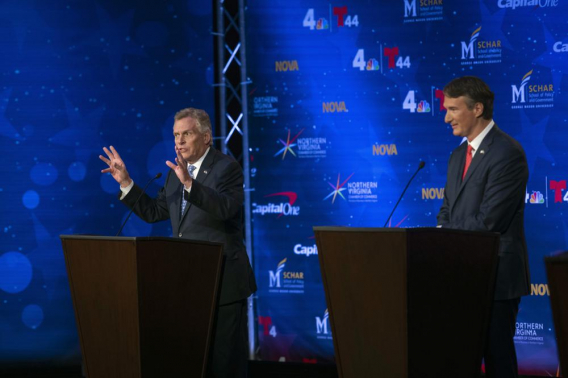 McAuliffe, Youngkin hold fiery debate on vaccinations, taxes
