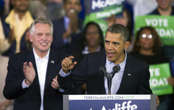 Obama to campaign with McAuliffe in Virginia governor's race