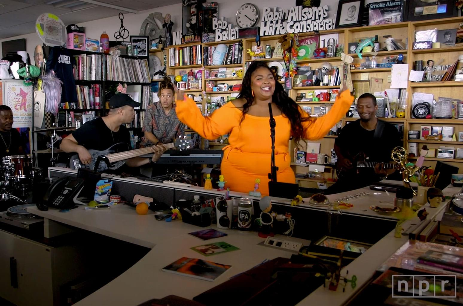 "Lizzo Performs ""Tiny Desk Concert"""