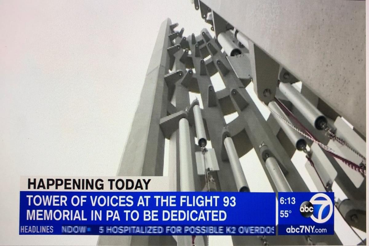 'Tower of Voices' 9/11 memorial opens at Flight 93 crash site