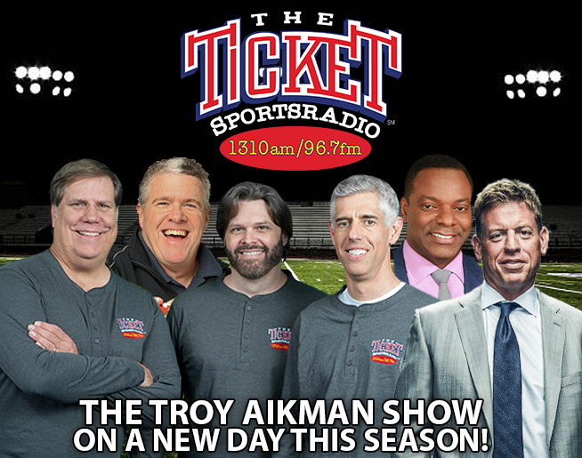 The Ticket's Own Hall of Famer, Troy Aikman, on The Musers Tuesdays 7:55am