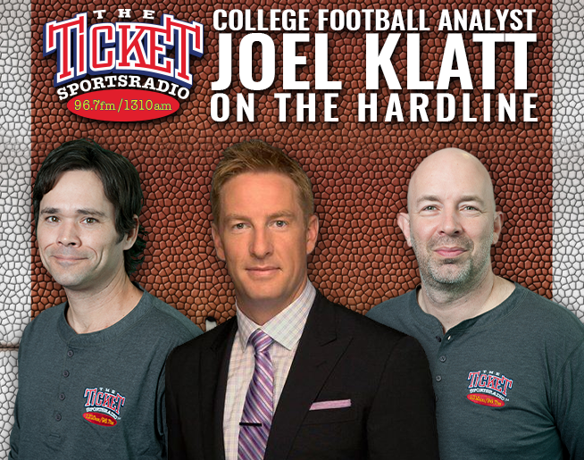 Fox College Football Analyst, the Ticket's Own Joel Klatt on the Hardline Wednesdays 5:30pm
