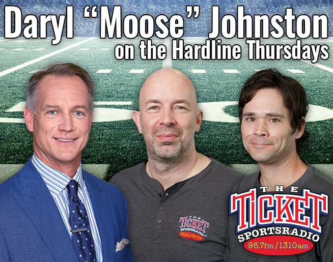 "3 Time Cowboys Super Bowl Winner and Fox NFL Analyst Daryl ""DJ-Moose"" Johnston Thursdays on the Hardline"