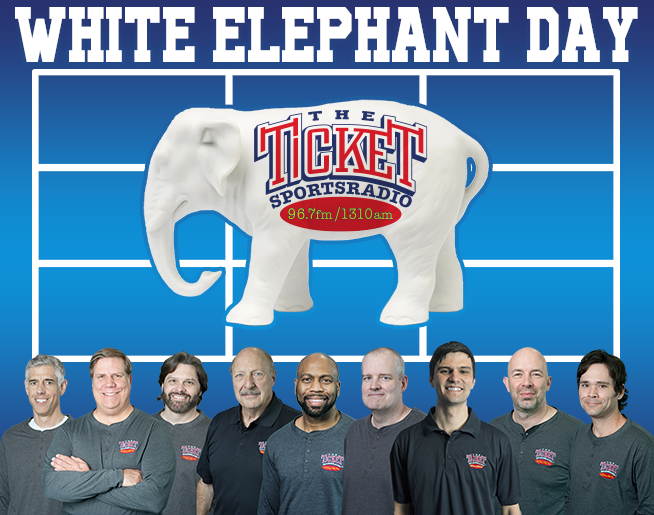 The Ticket's White Elephant Day Wednesday, December 2 from 5:30am-7pm