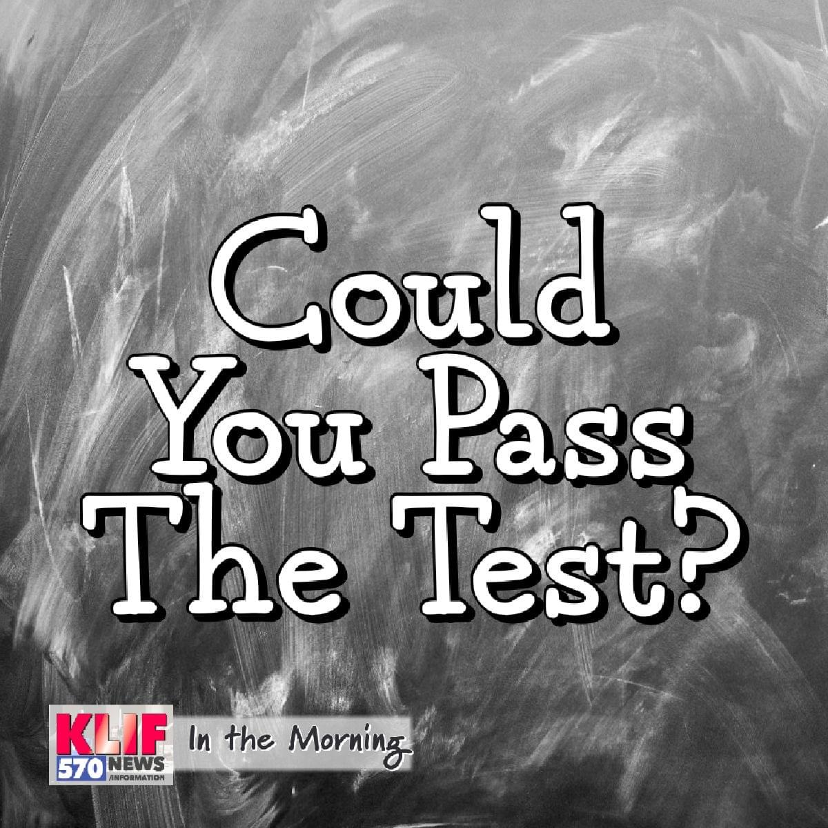 Could You Pass The Test?