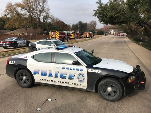 Dallas Police squad car rammed by drunk driver