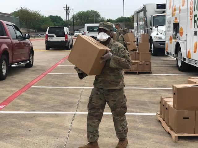 National Guard on the Front Lines in North Texas to Fight Hunger