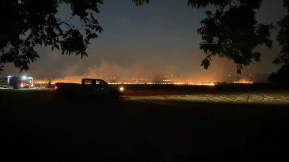 Plano Fire Work Show Sparks Brush Fire