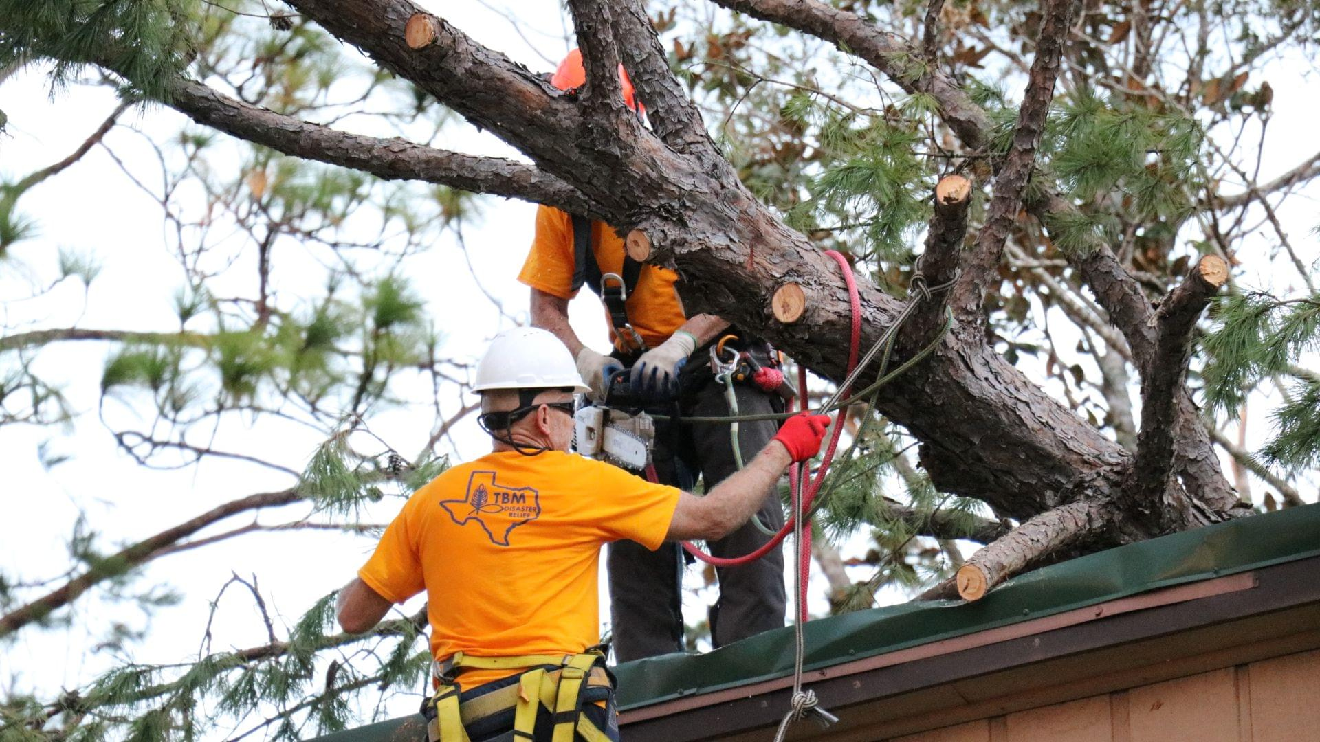 Texas Baptist Men Set Up to Help Those Affected by Tropical Storm Beta